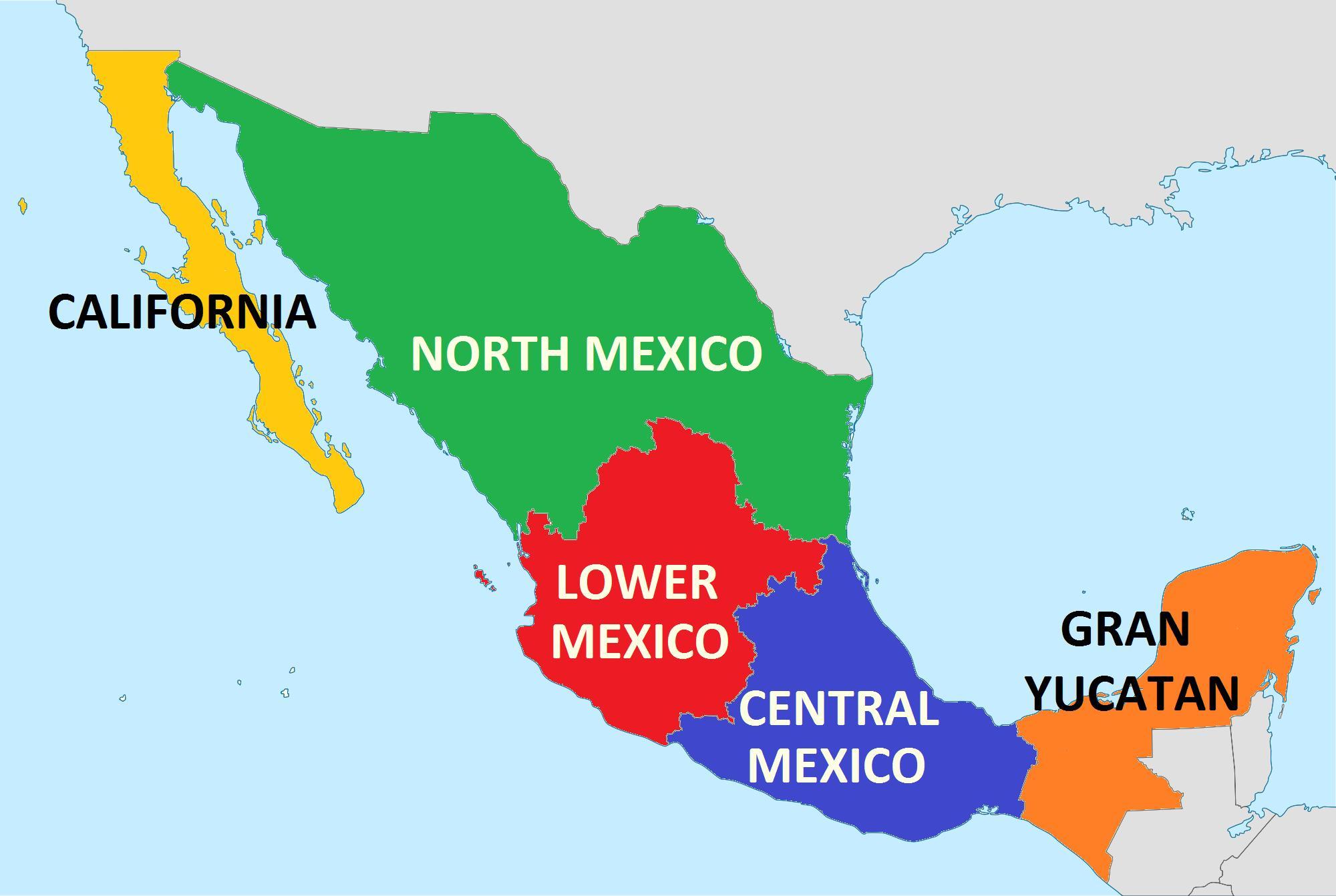mexico kart Kart av statene i Mexico   Usa Mexico kart (Sentral Amerika   Amerika) mexico kart