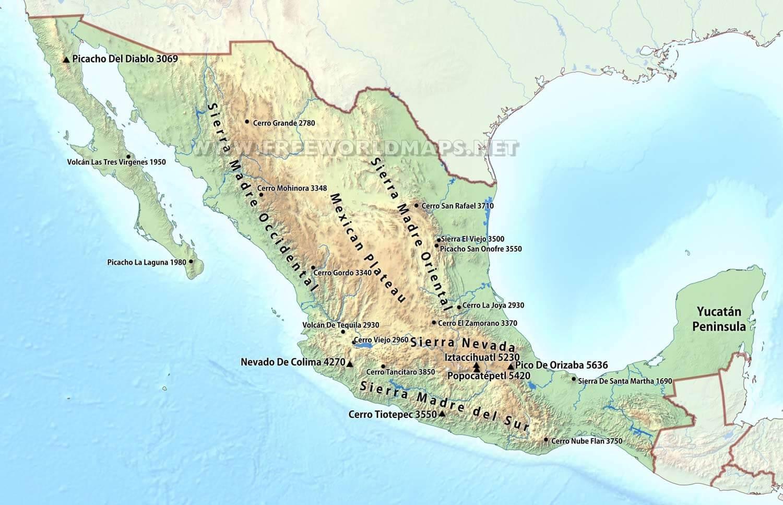 kart over mexico Mexico ørkenen kart   Kart over Mexico ørkenen (Sentral Amerika  kart over mexico