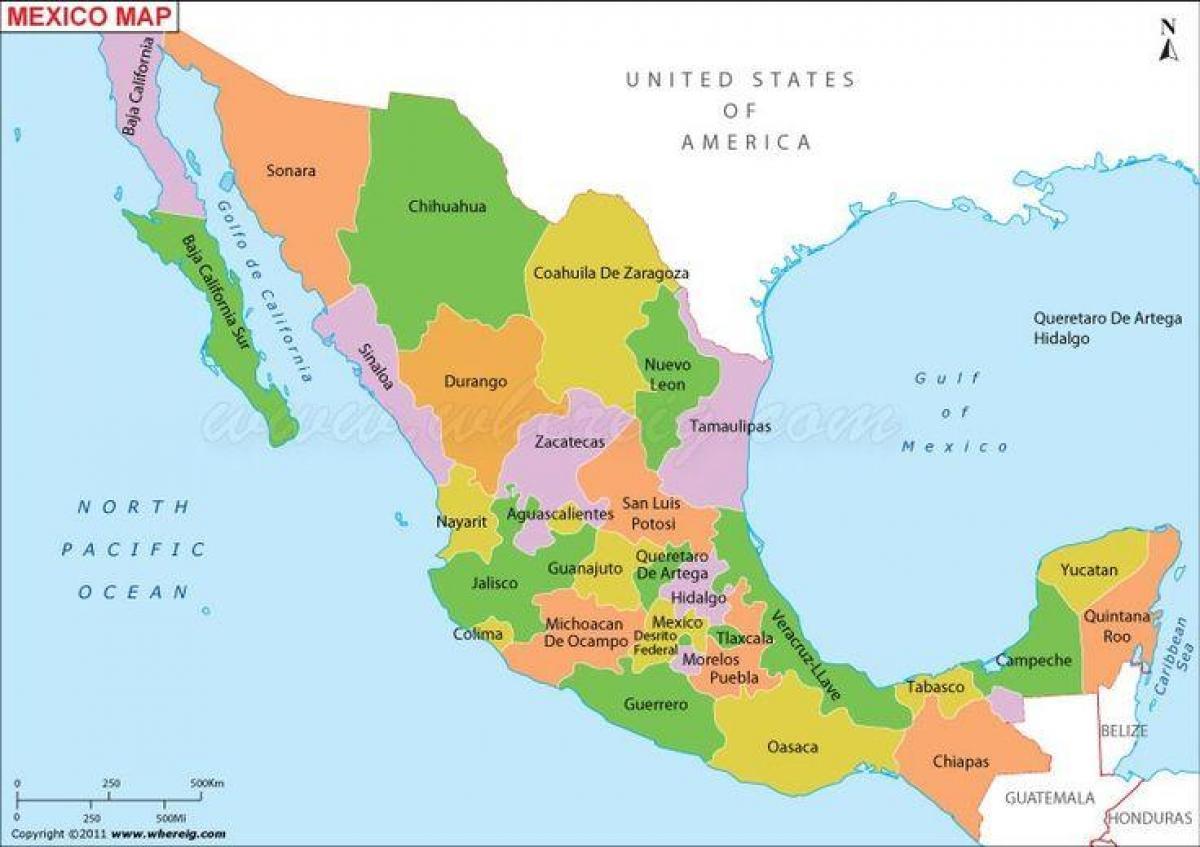 mexico kart Mexico kart usa   Kartet Mexico usa (Sentral Amerika   Amerika) mexico kart