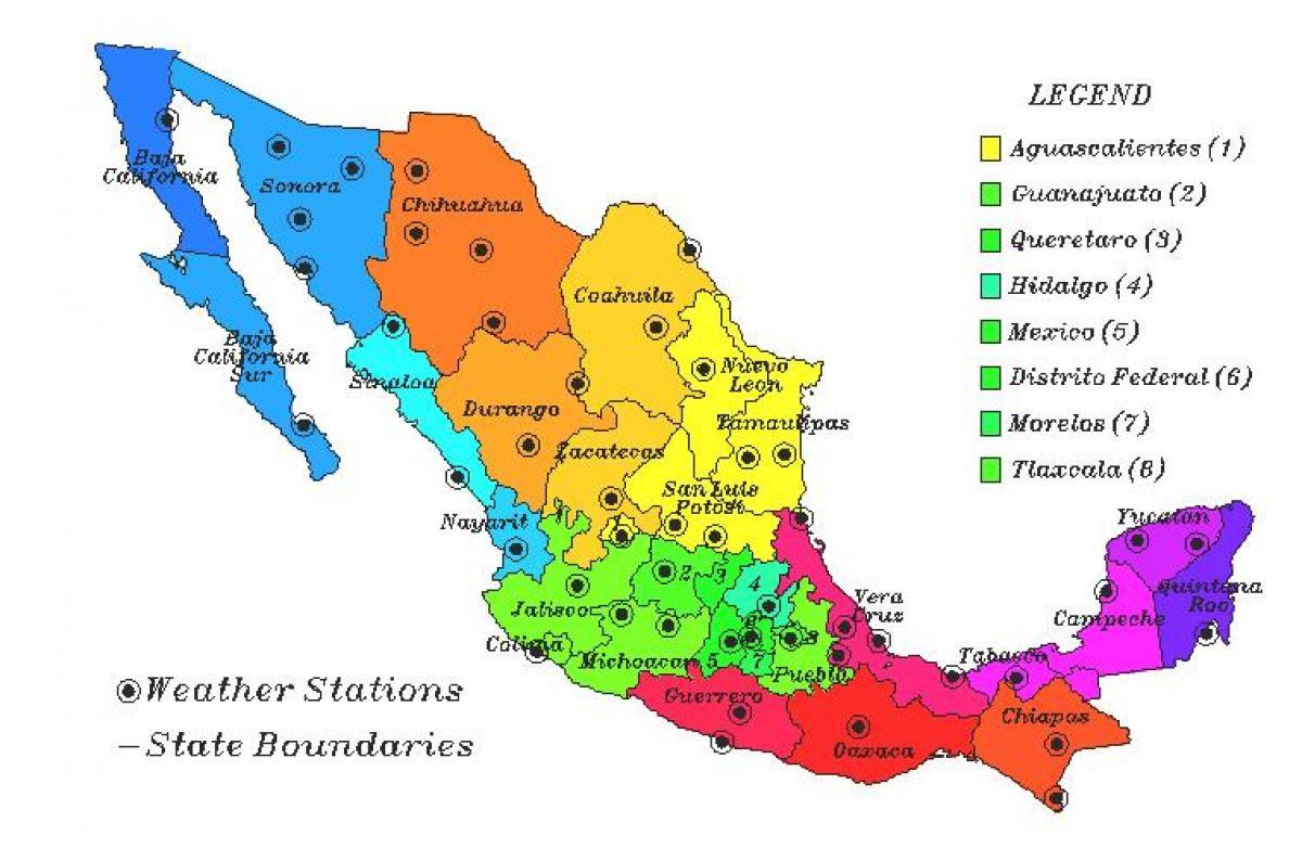 mexico kart Mexico kart vær   Vær kartet av Mexico (Sentral Amerika   Amerika) mexico kart