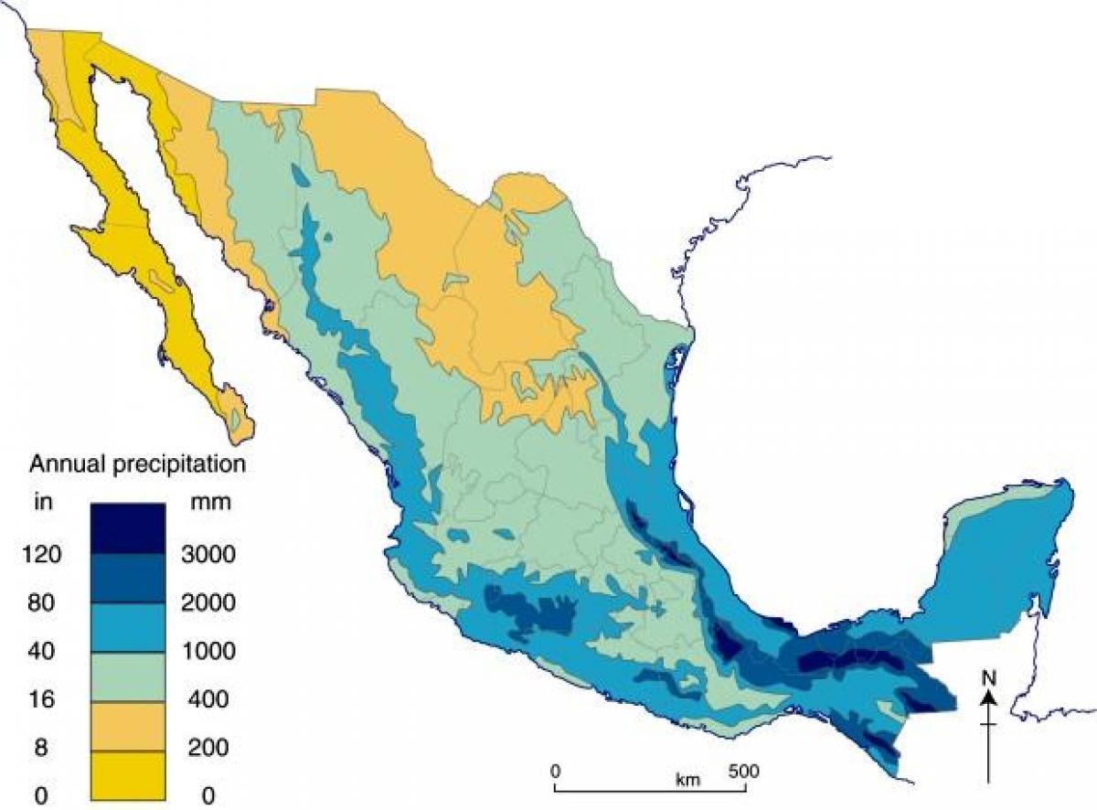 kart over mexico Mexico regn kart   Kart over Mexico regn (Sentral Amerika   Amerika) kart over mexico